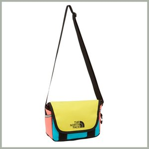 The North Face K BC Shoulder Pouch BY Yellow Blue mini bag / ザ ノースフェイス キッズ ベースキャンプ ショルダー ポーチ イエロー ブルー 大人対応|beardstore