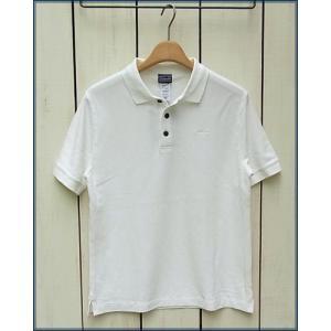 Ptagonia M's Polo /Pique Shortsleeve Polo Shirts 725 / パタゴニア 鹿の子 ポロシャツ / 半袖 刺繍ロゴ ホワイト beardstore