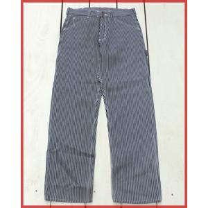 Round House Special Made Painter Pants Hickory Denim White Stitch / ラウンドハウス 別注 ペインター パンツ ヒッコリー デニム ホワイト ステッチ|beardstore