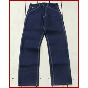 Round House Special Made Painter Pants Blue Denim White Stitch / ラウンドハウス 別注 ペインター パンツ ブルー デニム ホワイト ステッチ|beardstore