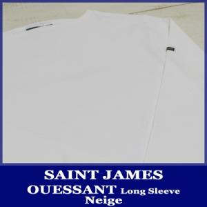 Saint James Ouessant L/S Solid Boatneck NEIGE / セントジェームス ウェッソン 無地 長袖 ホワイト 白 unisex point up|beardstore