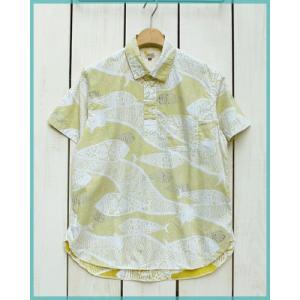 ラスト!!Sunlight Believer Fish Print Pullover S/S Shirts washed Mustard / サンライトビリーバー プルオーバー 半袖シャツ マスタード|beardstore