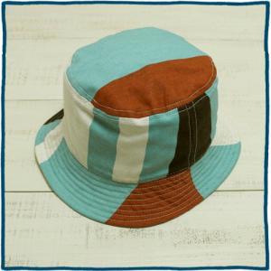 セール!! Sunlight Believer U.S.A. Canvas Rev Hat Wilson / サンライトビリーバー キャンバス リバーシブル ハット ウイルソン ブラウン L.ブルー|beardstore