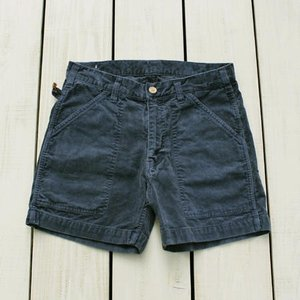 Sunlight Believer 70s Corduroy Short Pants Navy Pigment / サンライトビリーバー コーデュロイ ショーツ ネイビー 紺 製品染め|beardstore