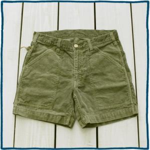 Sunlight Believer 70s Corduroy Short Pants Sage Pigment / サンライトビリーバー コーデュロイ ショーツ セージ 製品染め|beardstore