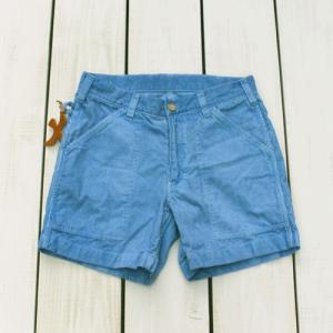 Sunlight Believer 70s Corduroy Short Pants C-Blue Pigment / サンライトビリーバー コーデュロイ ショーツ C.ブルー 製品染め|beardstore