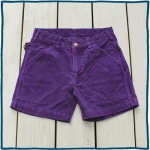 Sunlight Believer 70s Corduroy Short Pants Purple Pigment / サンライトビリーバー コーデュロイ ショーツ パープル 製品染め|beardstore