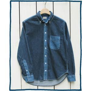 Sunlight Believer 2Tone Denim L/S B.D. Shirts vintage wash Indigo / サンライト ビリーバー 2トーン デニム ボタンダウン シャツ 長袖 インディゴ|beardstore