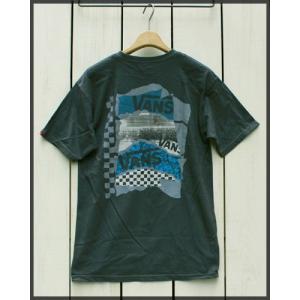VANS Collage S/S Print Tee Classic Fit Charcoal / バンズ プリント 半袖 Tシャツ チャコール グレー|beardstore