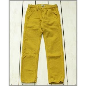 V.D.L.C Canvas Painter Pants D.Mustard / ブイディーエルシー キャンバス ペインター パンツ D.マスタード 後染め|beardstore