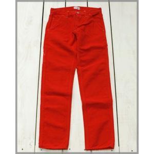 V.D.L.C Canvas Painter Pants Red / ブイディーエルシー キャンバス ペインター パンツ レッド 後染め|beardstore