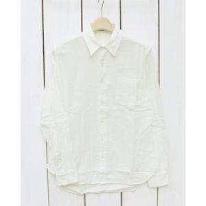V.D.L.C Double Gauze Regular Shirts  Washed Off White / ブイディーエルシー ダブルガーゼ レギュラー シャツ オフ ホワイト 白 洗い|beardstore
