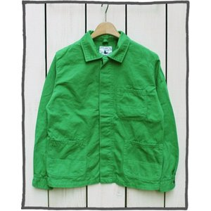 V.D.L.C Cotton Twill Work Jacket H.Green Overdye / ブイディーエルシー コットン ツイル ワーク ジャケット H.グリーン 製品染め|beardstore