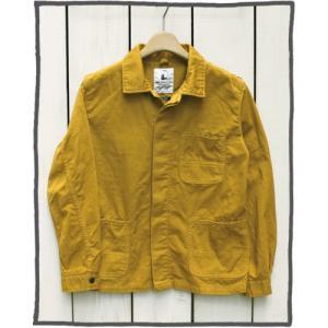 V.D.L.C Cotton Twill Work Jacket Karashi Overdye / ブイディーエルシー コットン ツイル ワーク ジャケット からし 製品染め|beardstore