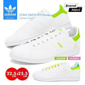 【サイズ交換1回無料】アディダス レディース adidas STAN SMITH J スニーカー 靴 ディズニー ティンカーベル カーミット DISNEY FX5998 FY6535 ジュニア bearfoot-shoes
