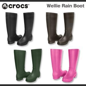【在庫処分】レディース クロックス ウェリー レインブーツ Crocs Wellie Rain Boot Women 長靴 レインブーツ