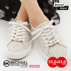 【サイズ交換1回無料】MICHAEL KORS マイケルコース レディース スニーカー アイマ ラベル IMA RABEL ホワイト シューズ 靴|bearfoot-shoes