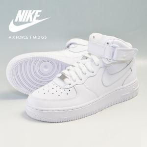 ナイキ エアフォース1 ミッド NIKE AIR FORCE 1 MID GS ナイキ ミドルカット スニーカー 白 ホワイト 靴 シューズ 314195-113