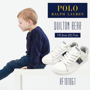 【サイズ交換1回無料】ポロ ラルフローレン スニーカー キッズ ジュニア 子供 靴 シューズ POLO RALPH LAUREN QUILTON BEAR|bearfoot-shoes