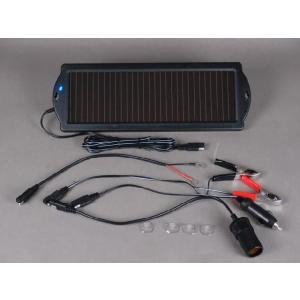 ソーラーチャージャー ソーラー充電器 1.5w 自動車 バイク バッテリー 発電機 曇りOK【1セット】|bearidgeshop