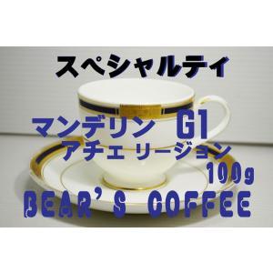 bears coffee コーヒー豆マンデリン アチェ 100g コーヒー豆お試し サンプルコーヒー...