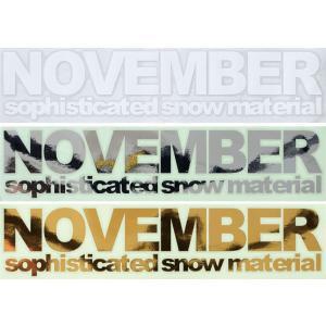 NOVEMBER SNOWBOARDS STICKERS/CUTING LOGO[ノベンバー スノーボード ステッカー/カッティング ロゴ][即納]|beatnuts