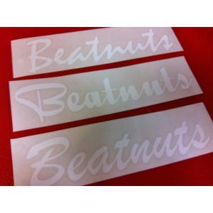 [メール便も対応][Beatnuts LOGO STICKERS/CUTTING-TYPE/WHITE] [ビートナッツ ロゴステッカー カッティング-タイプ/ホワイト][即納] 600円+税|beatnuts