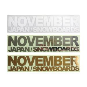 NOVEMBER SNOWBOARDS STICKERS/CUTING LOGO-S[ノベンバー スノーボード ステッカー/カッティング ロゴ-スモール][即納]|beatnuts