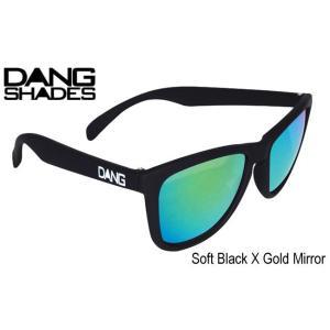 [DANG SHADES/Soft Black X Gold Mirror] [ダンシェーズ/ソフト ブラック×ゴールドミラー] [正規販売店] スノーボード サングラス スノボ サーフ 3700円+税|beatnuts