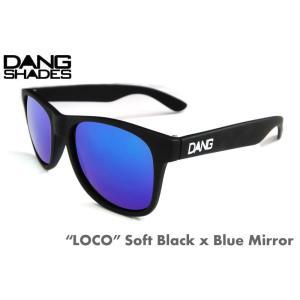 ダンシェーズ DANG SHADES LOCO Soft Black x Blue Mirror 正規販売店 スノーボード, サングラス, スノボ, サーフ, UVカット 売れ筋|beatnuts