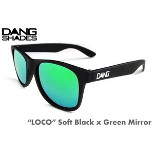 ダンシェーズ DANG SHADES LOCO Soft Black x Green Mirror 正規販売店 スノーボード, サングラス, スノボ, サーフ, UVカット 3700円+税|beatnuts