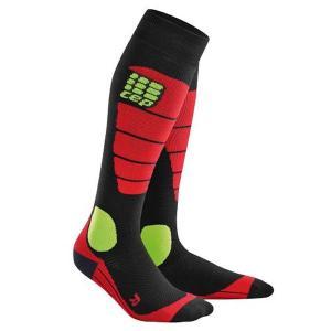 シーイーピー CEP SNOWBOARD SOCKS BLACK/RED 正規販売店 スノーボード用ソックス 靴下 メンズ|beatnuts