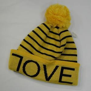 7OVE(ラブ) ボンボンビーニー イエロー ニット帽 正規販売店|beatnuts