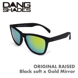 DANG SHADES ORIGINAL RAISED Black soft x Gold Mirror ダンシェーズ レーズド 正規販売店 4000円+税|beatnuts