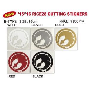 RICE28 ライス28 カッティングステッカー B-TYPE CUTTING MARK 16cm×16cm スノーボード|beatnuts
