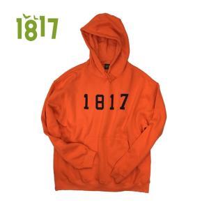 1817 16-17 DROPOUT HOODIE ORANG ワンエイティーンセブンティーン パーカー フード 正規販売店|beatnuts