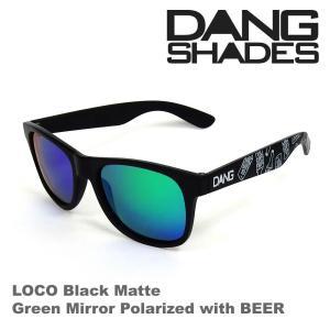 DANG SHADES ダンシェーズ LOCO Black Matte X Green Mirror Polarized with BEER vidg00252 偏光レンズ UVカット|beatnuts