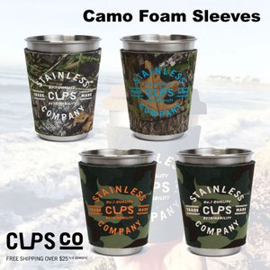 CupsCO Camo Foam Sleeves カップスコー ネオプレーンホルダー クージー カモ柄 保温保冷  売れ筋|beatnuts