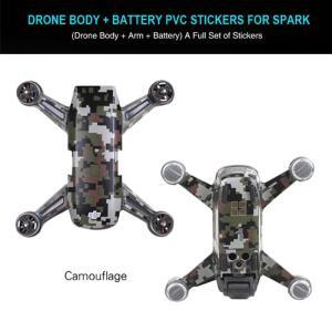 DJI Spark専用 デカールシール (本体+バッテリー) CAMO 防水 PVC 炭素 スキンシール ドローン DJIパーツ|beatnuts