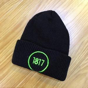 1817 CIRCLE LOGO BEANIE BLACK ビーニー ニット帽|beatnuts