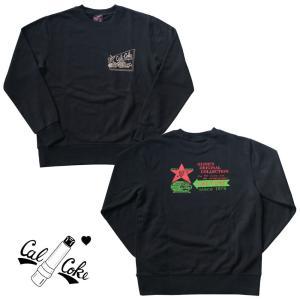ラジオバックプリント トレーナー★CAL-COKE★スエット/パーカー|beatswing