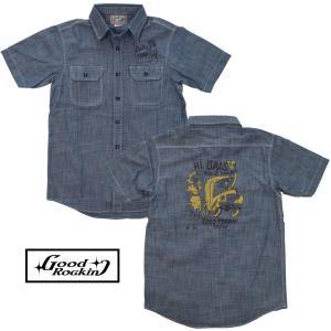 GRS-240半袖 ピックアップ プリントワークシャツ★GOOD ROCKIN'★シャツ|beatswing