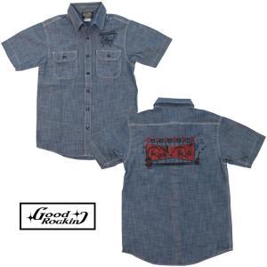 GRS-240半袖 ロックンロールサイン プリントワークシャツ★GOOD ROCKIN'★シャツ|beatswing