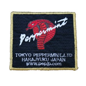 角コブラ ワッペン 金★PEPPERMINT★ステッカー/ワッペン beatswing