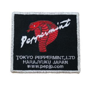 角コブラ ワッペン 銀★PEPPERMINT★ステッカー/ワッペン beatswing