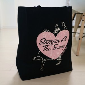 Stompin'Heart Tote Bag BLK★SAVOY CLOTHING★バッグ beatswing