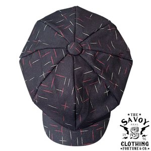 Savoy Two Tone Nep Big Casquette BKxRD/WH SVY-HT104★SAVOY CLOTHING★ハット|beatswing