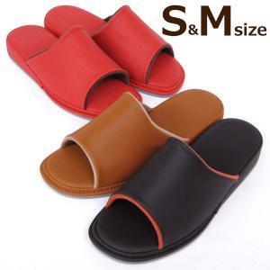 三重構造 インソール サンダルスリッパ 合皮 S&Mサイズ レディース 室内履き 合成皮革