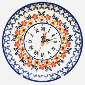 ポーリッシュポタリー ポーランド食器 ポーランド陶器・食器 壁掛け時計 Wall Watch 陶器時計 ギフト マニュファクトゥラ社|beau-p