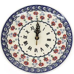 ポーランド陶器・食器 壁掛け時計 Wall Watch 陶器時計 ギフト マニュファクトゥラ社 Z144−P232|beau-p